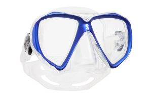 Taucher-Maske blau