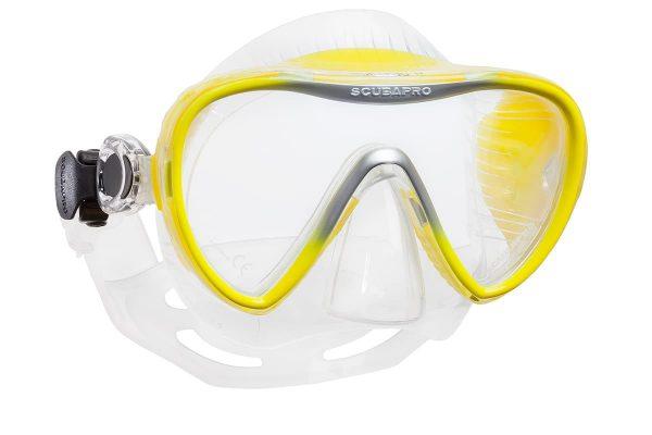 Taucher-Maske gelb