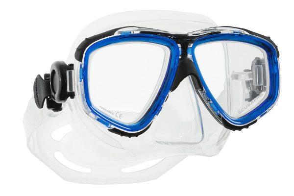 Tauchermaske blau