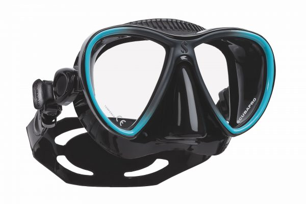 Tauchermaske schwarz blau